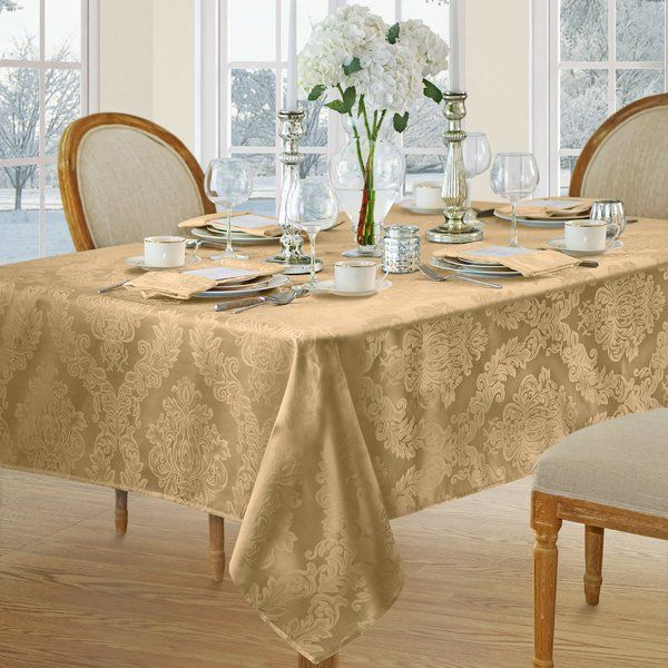 Burchfield Tablecloth Table Cloth Elrene Home Fashions White