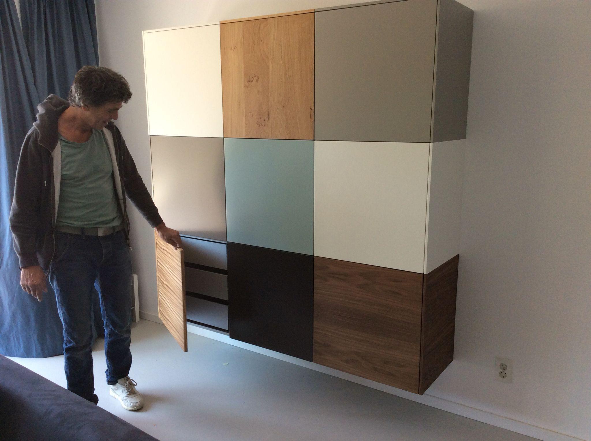 Nonoo 33 creatieve kast zwevend design zelf een compositie maken op nonoo - Planken maken in een kast ...