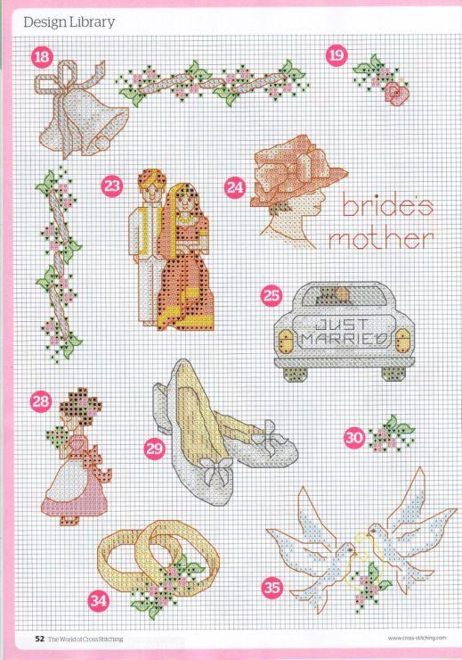 открытки схемы вышивок для открыток к свадьбе отметить, что при