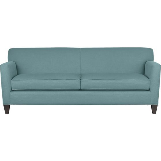 Hennessy Sofa In Mist Crate And Barrel Also Cute Couch