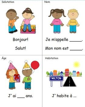 french immersion self introduction prompt cards french 2015 16 french immersion french. Black Bedroom Furniture Sets. Home Design Ideas