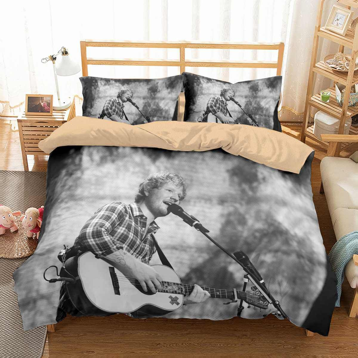 3D Customize Ed Sheeran Bedding Set Duvet Cover Set Bedroom ...