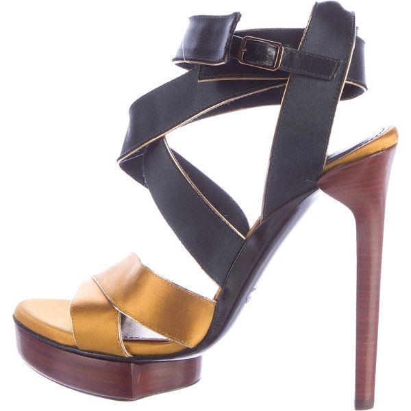 Pre-owned - Velvet sandals Lanvin Clearance How Much JqCckPKH