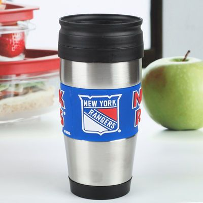 New York Rangers 15oz. Stainless Steel & PVC Travel Tumbler