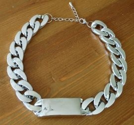 ID chain ketting zilver