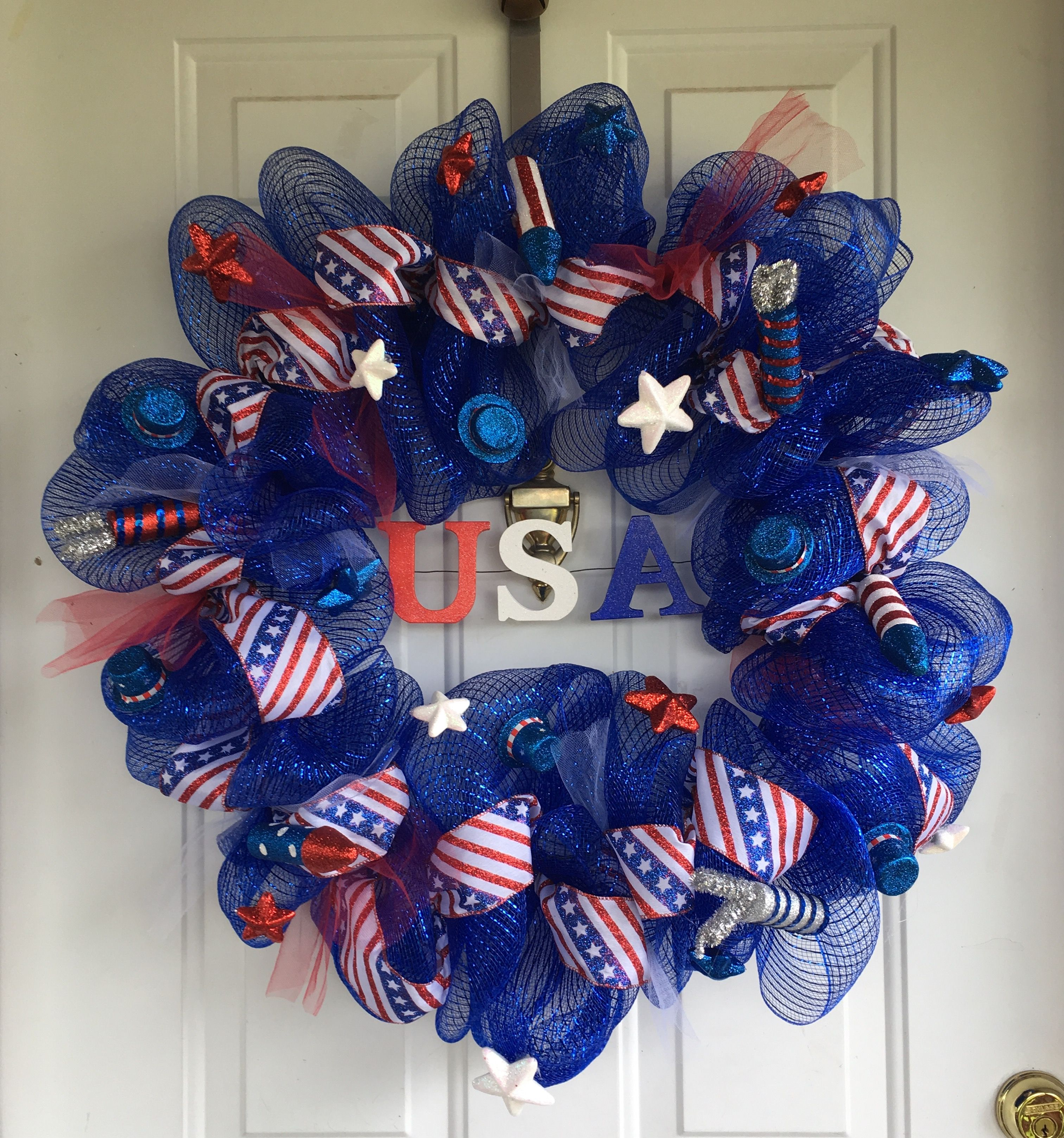 Diy 4Th Of July Wreath Made By Kay Rippetoe