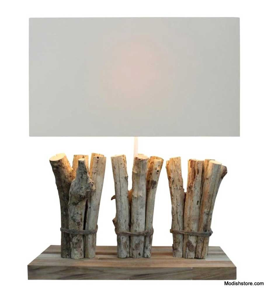 Reclaimed Driftwood Table Lamp Three Boat Dock By Drift Home