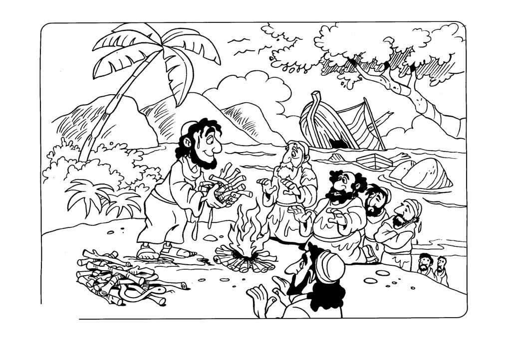 bible coloring pages acts 27 22 | paulo2.jpg (1040×720) | Paul Shipwrecked | Pinterest ...