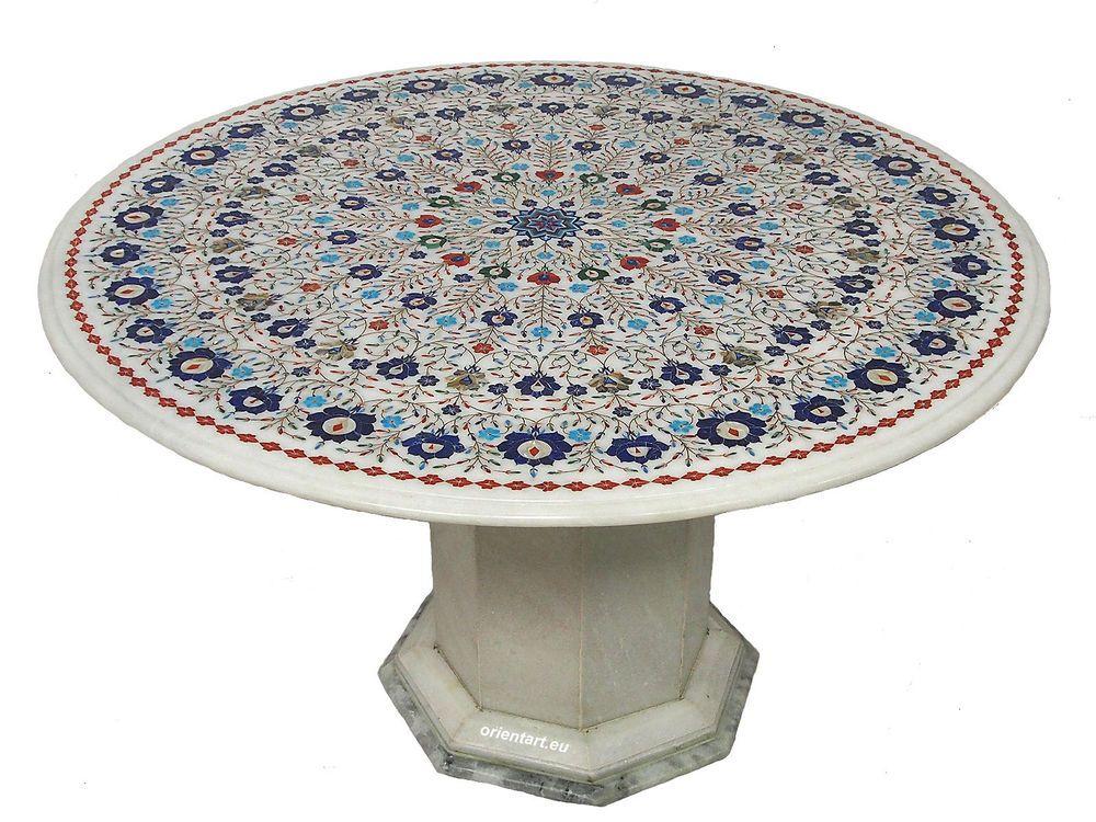 90 cm Marmor Pietra Dura Couchtisch Tisch Florentiner