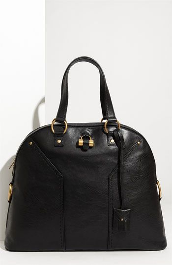 0a60179adbbae Yves Saint Laurent  Muse - Large  Leather Dome Satchel  1