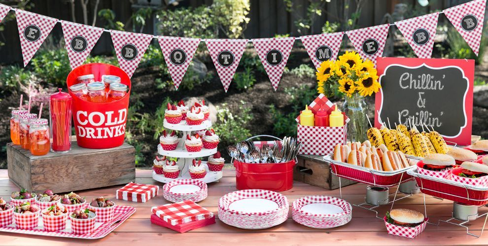 BBQ Grill Cookout Personalised Birthday Party Bunting
