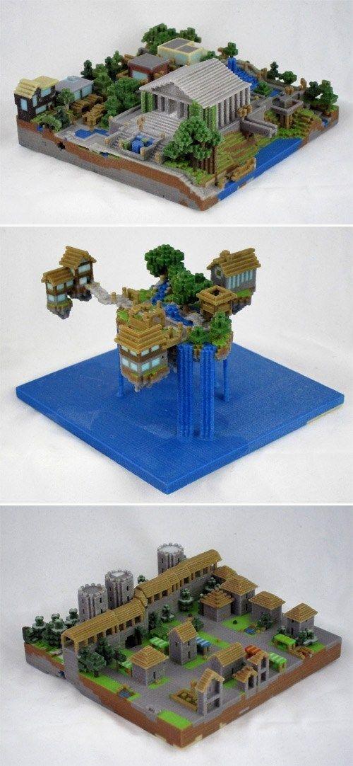You Can Now Export Your Minecraft Construction into a 3D Print - jeux de construction de maison en 3d