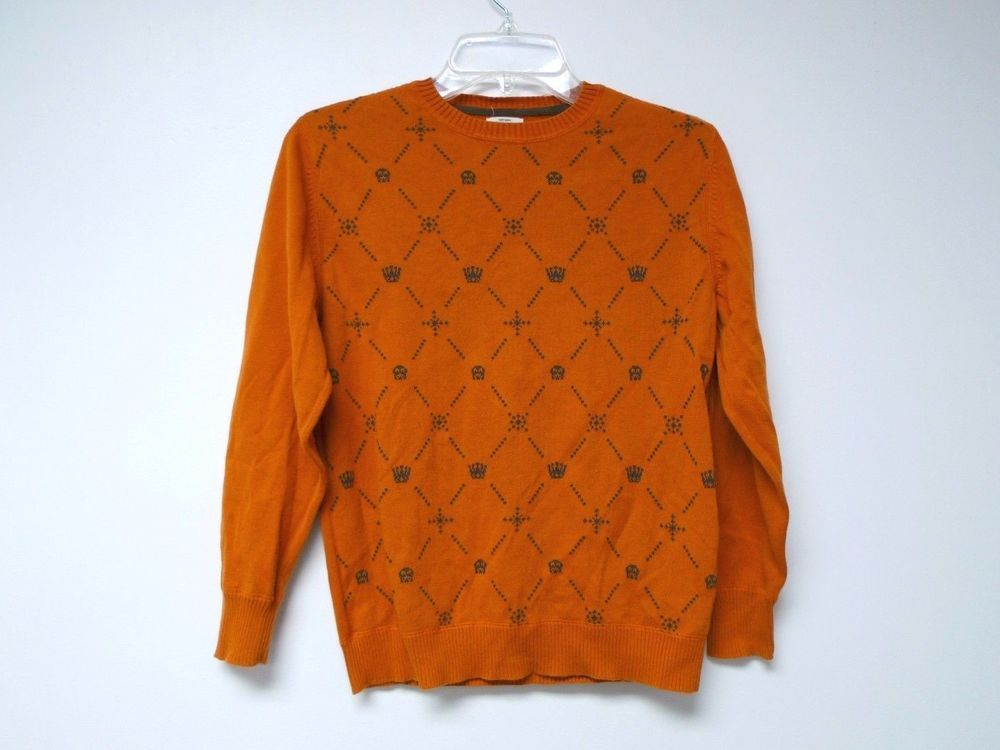 Old Navy orange skull and crown knitted boys sweater . large ...