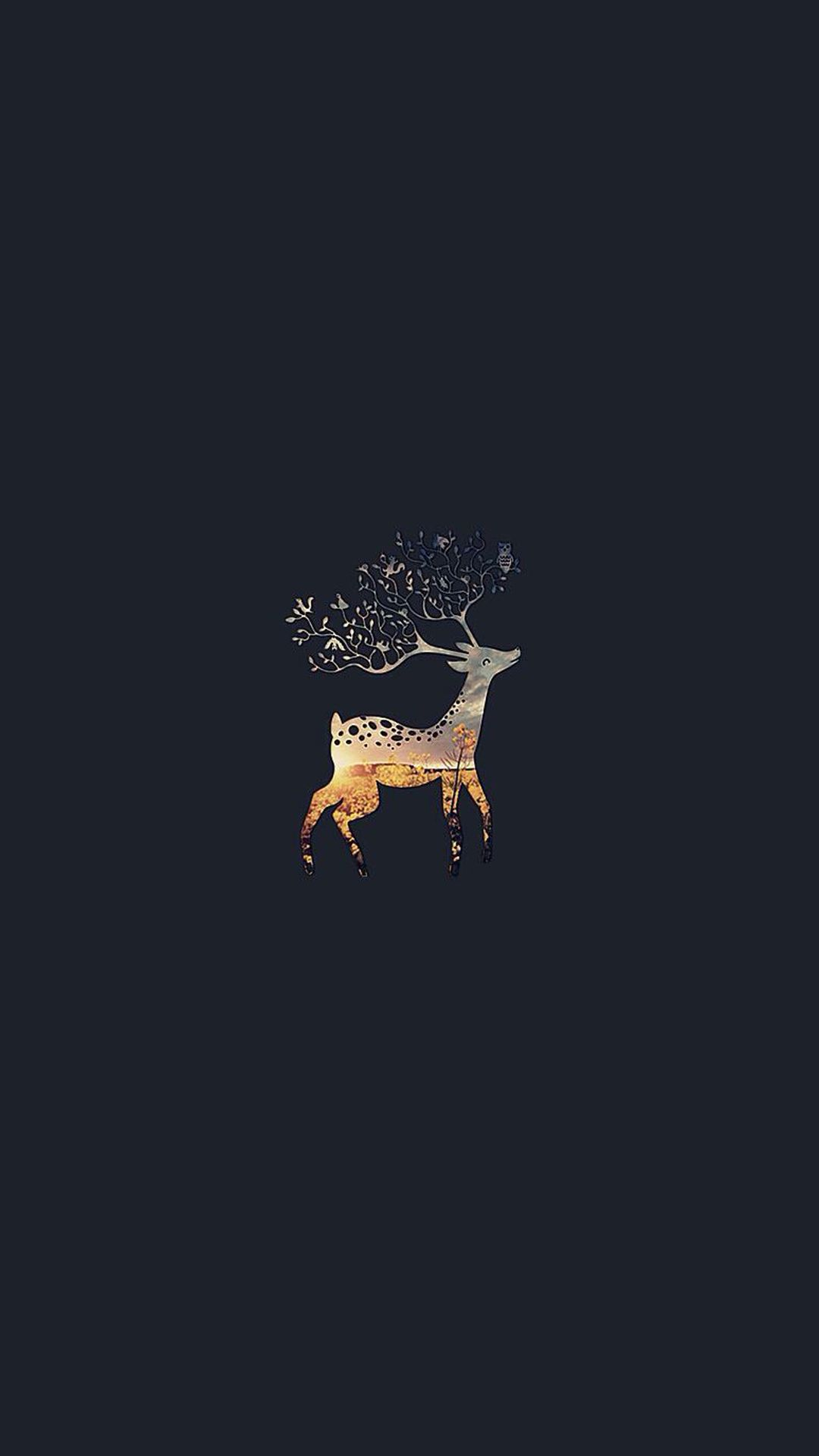 Deer branch horns iphone 6 wallpaper iphone 6 8 - Christmas iphone backgrounds tumblr ...