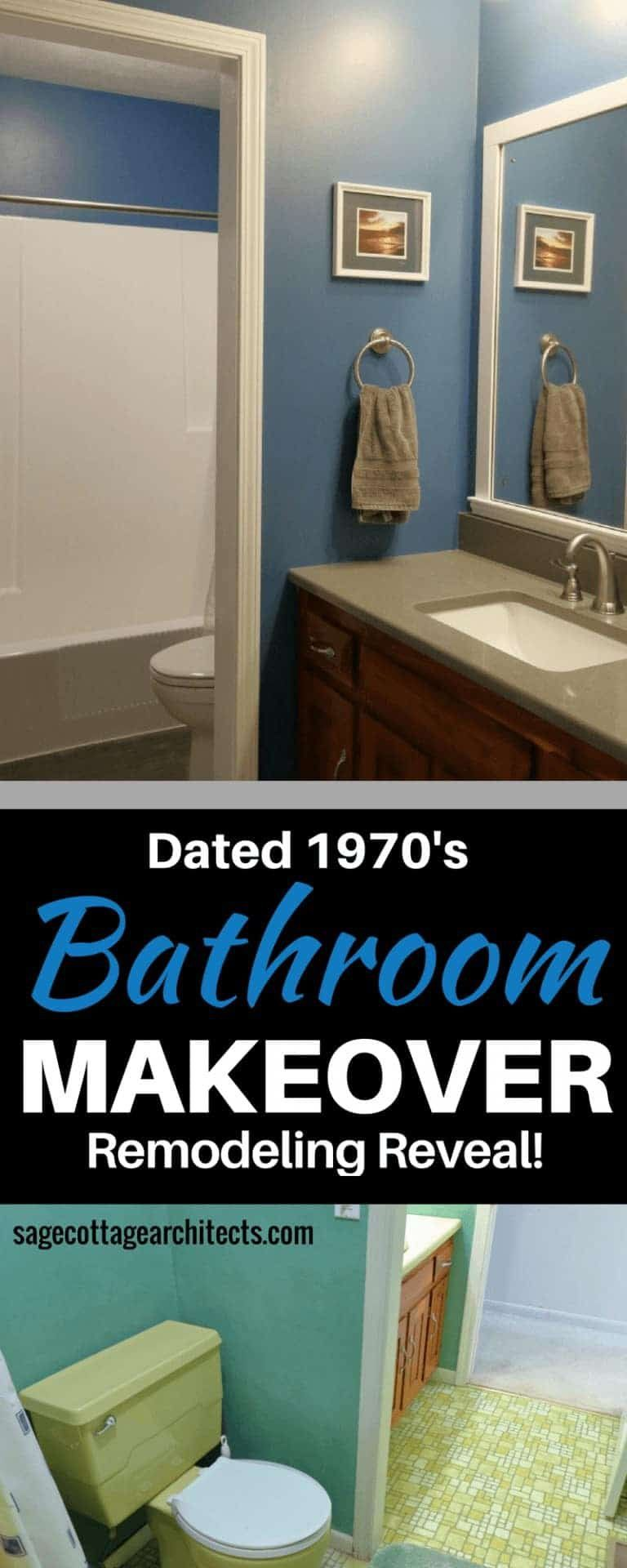 Photo of Dated 1970's Bathroom Makeover – Beautiful Bathroom Remodeling Reveal • Sage Cottage Architects