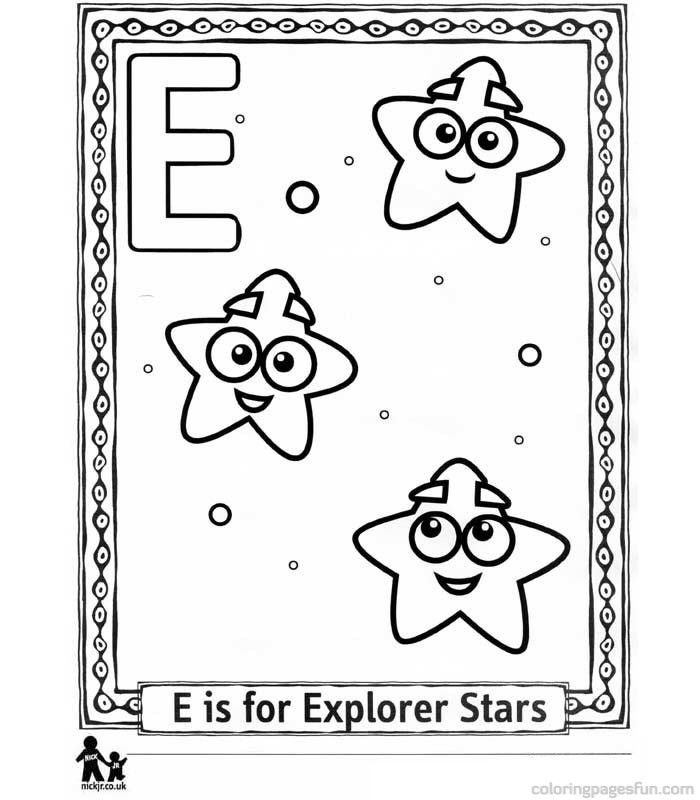 Dora The Explorer Alphabet Coloring Pages