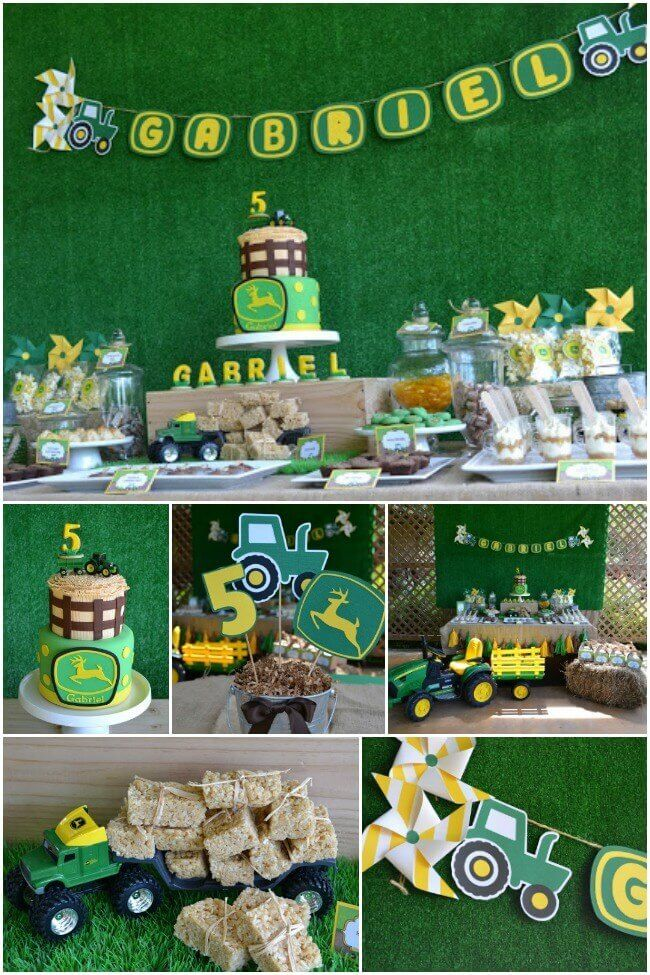 A Boy's Tractor Birthday Party