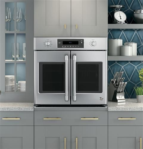 In Love With This Ge Cafe Series 30 Built In French Door Convection Wall Oven Beautiful And Has All The Be With Images French Door Wall Oven Electric Wall Oven Wall Oven