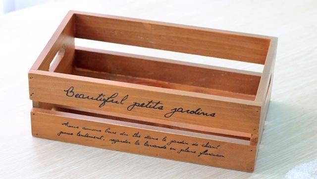Vintage Wooden Storage Box Letter Holder & Vintage Wooden Storage Box Letter Holder | Letter holder Pot ...