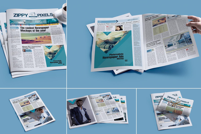 Professional Newspaper Psd Mockups By Zippypixels On Envato Elements Mockup Psd Mockup Psd