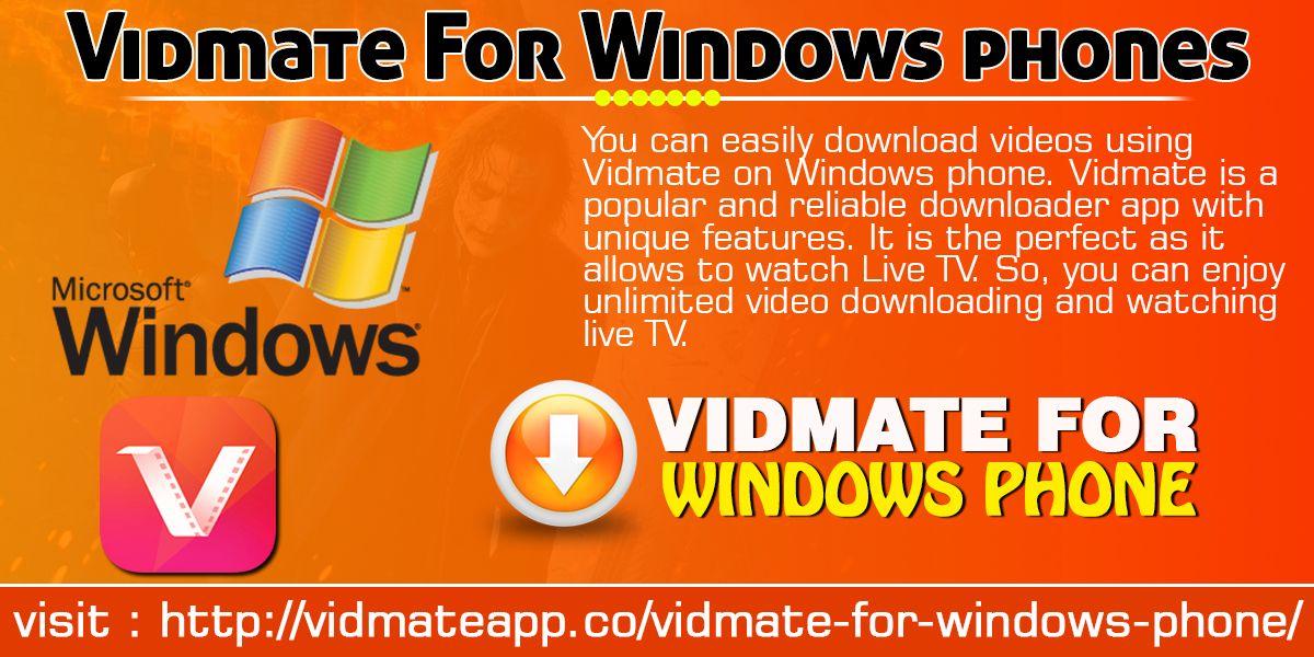 Baixar vidmate para windows phone | Baixar Vidmate Para PC,Windows