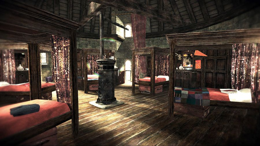 Boys Dormitory Hp Game Hogwarts Interiors Harry