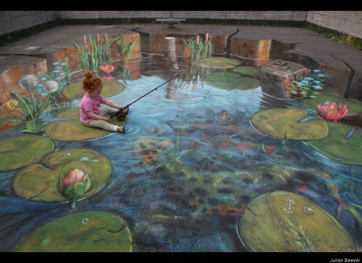 You Won't Believe These 3D Chalk Illusions! | 3d sidewalk art ...