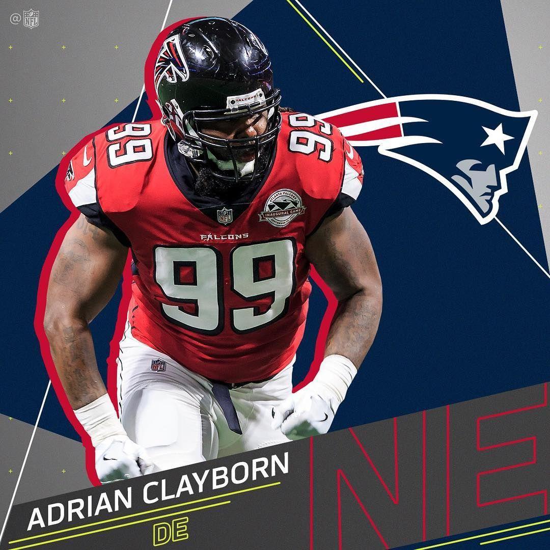 Patriots Expected To Sign De Adrian Clayborn The Former Falcons De Totaled 9 5 Sacks Last Season Via Mike Garafo Falcons Football Helmets Adrian