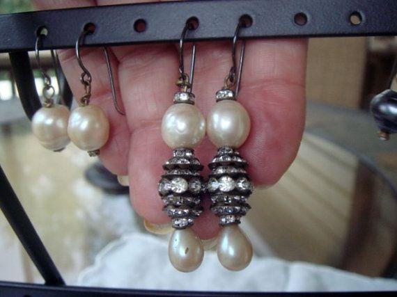 Vintage drop earrings examples of custom by IrisNaomiVintageJwls