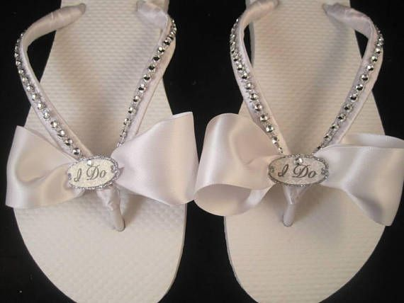 eb136e8be09 I Do Bridal Flip Flops