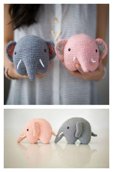 Adorable Crochet Elephant Amigurumi Free Patterns | Häkelanleitung ...