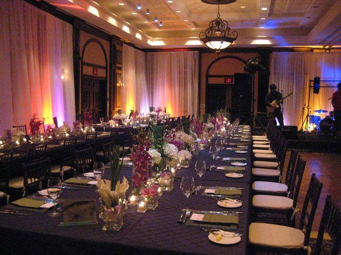 family style seating reception | The Atlantic Ballroom lent itself ...