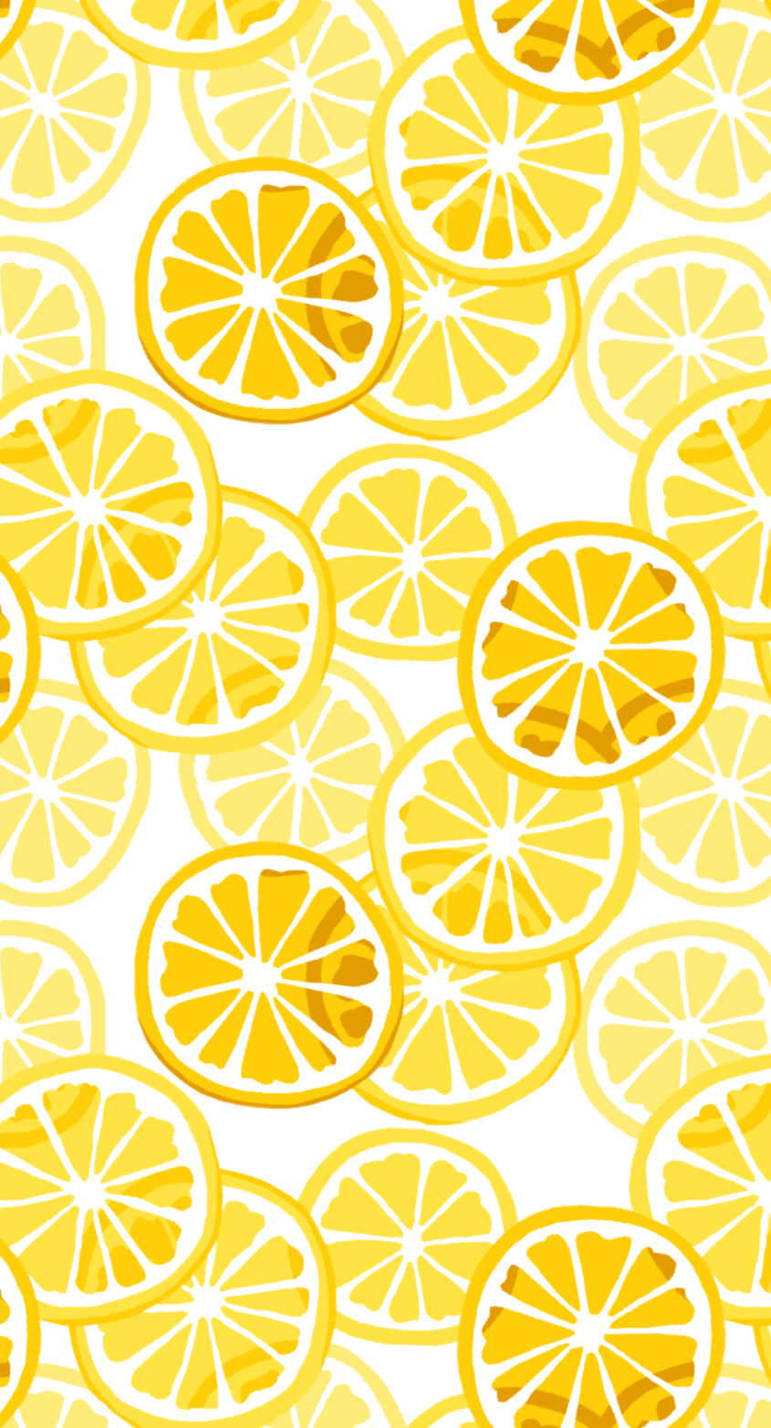 Repeat Citrus Pattern: Lemons