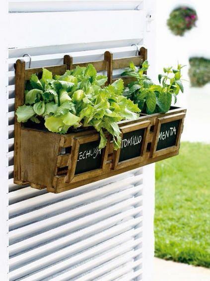 Huerto urbano Huertos urbanos (hay que comer hierbas) Pinterest - diseo de jardines urbanos