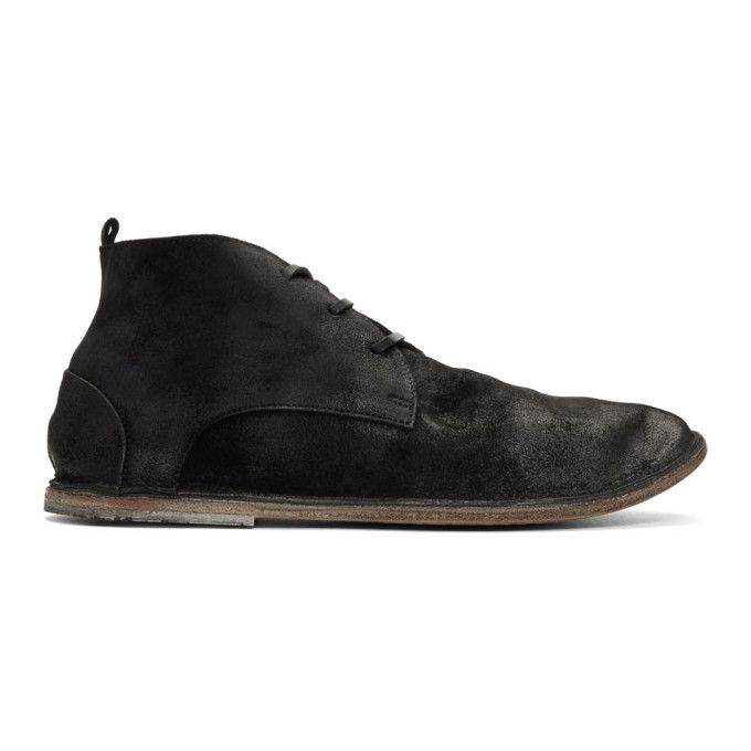 Filling Pieces Black Suede Strasasacco Desert Boots