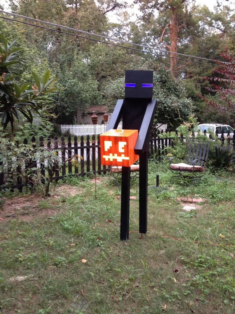 Enderman Halloween decoration Halloween Pinterest Decoration - halloween house decoration