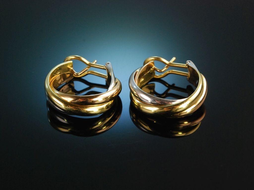Trinity Traumhafte Creolen Cartier Vintage Gold 750 Creolen