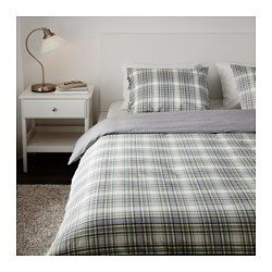 Snärjmåra Duvet Cover And Pillowcases Check Green Checkgreen