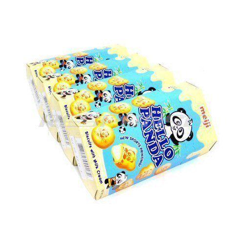 Meiji Hello Panda Milk Cream Vanilla Japanese Biscuit Snack Cookie Candy 4 Packs Hello Panda Snacks Vanilla