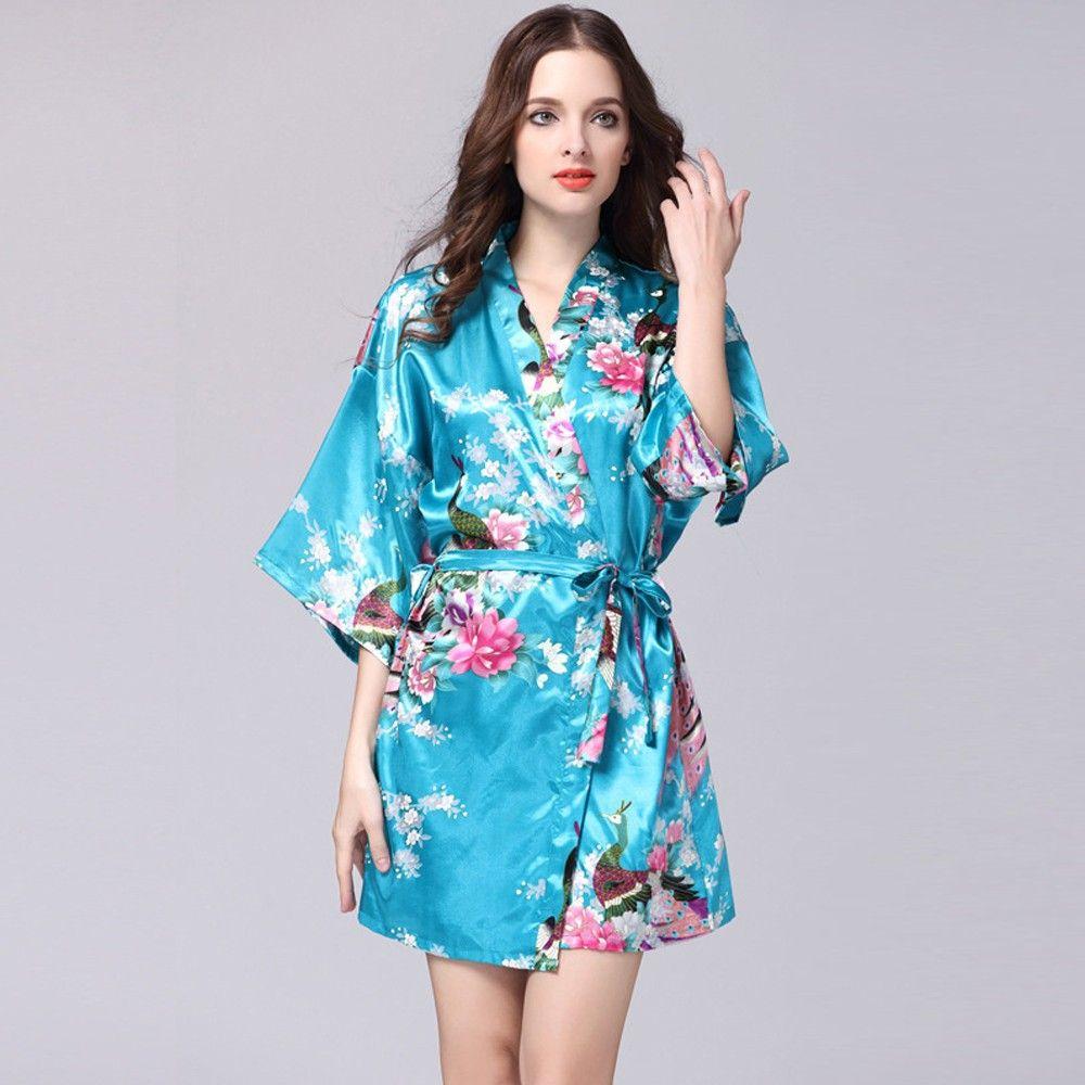 Soft silk pajamas in sky blue