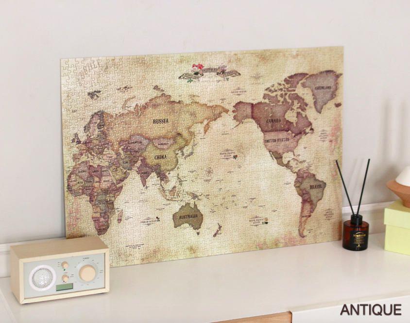 World Map Jigsaw Puzzle 1000 Pieces [ Antique / Pastel ] / 101533249 by DubuDumo on Etsy
