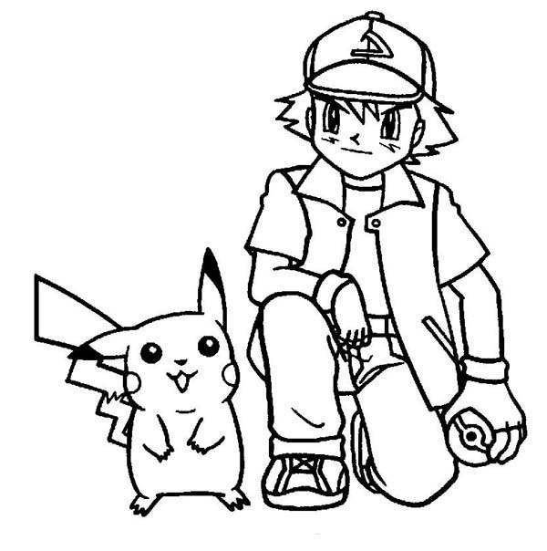 Pin On Ash Ketchum Coloring Pages