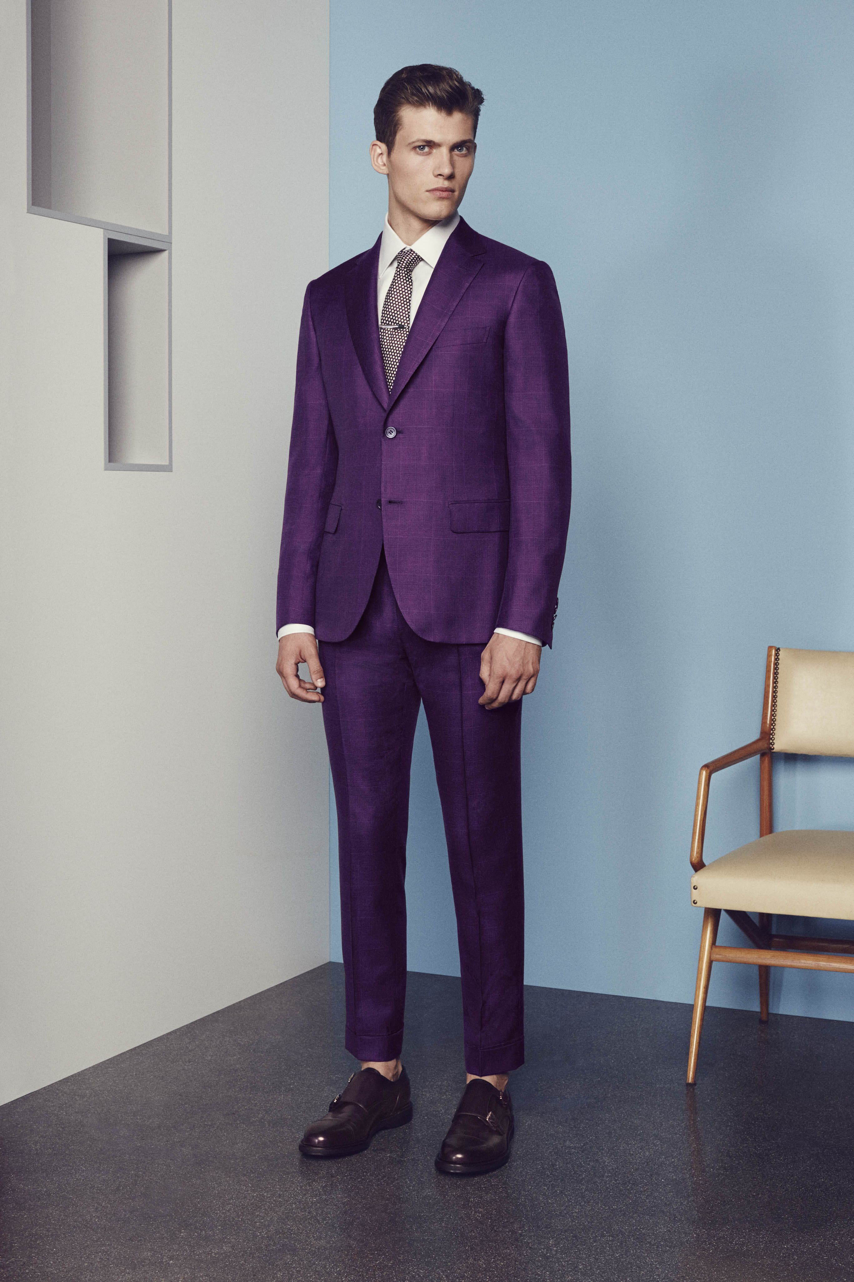 Beetroot Prince of Wales suit jacket Beetroot Prince of ...
