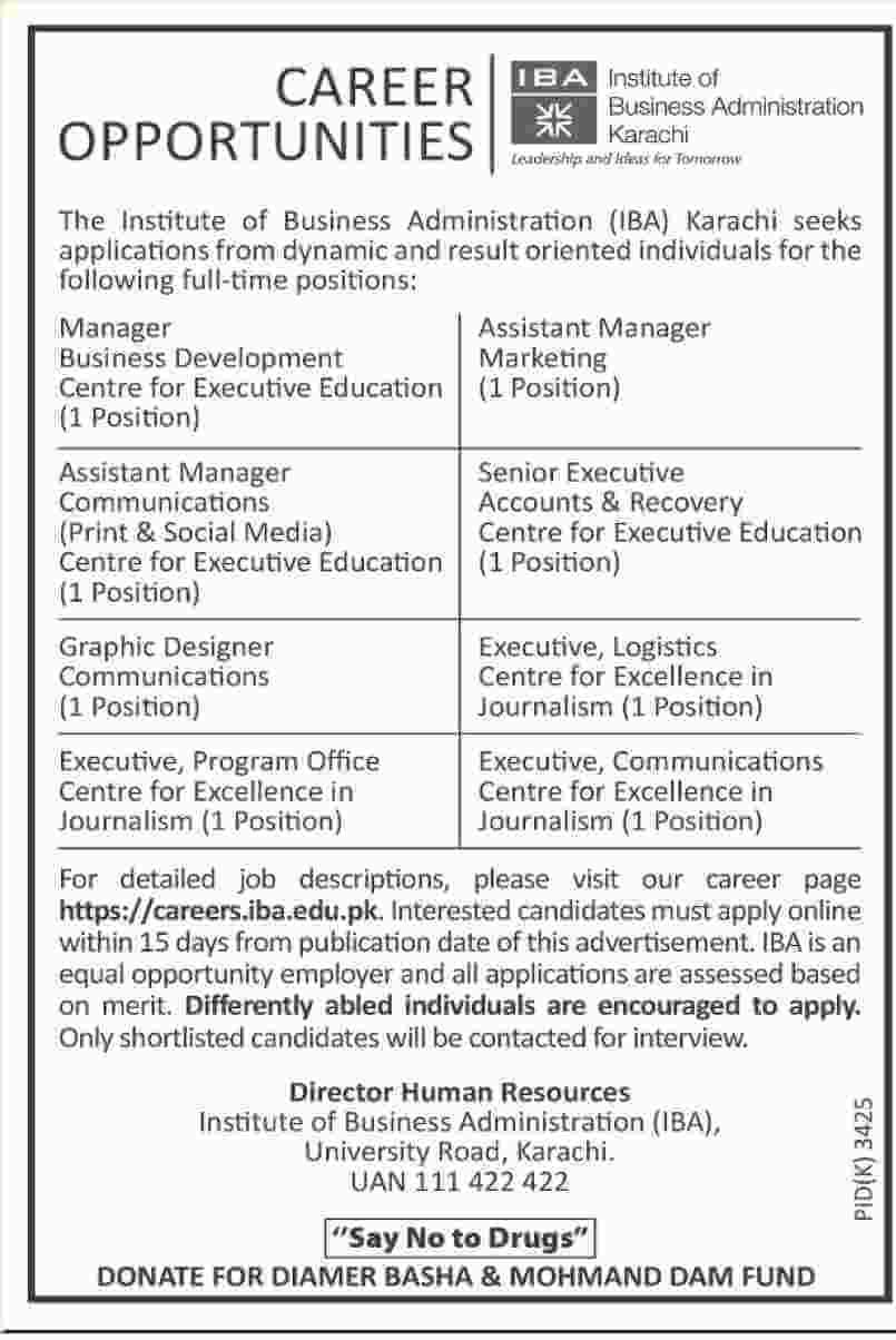 10 Jobs In Institute Of Business Administration Karachi