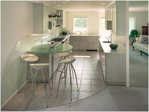 Kitchen Design Galley Layout getting close to the idea of a mini bar area at the end of a