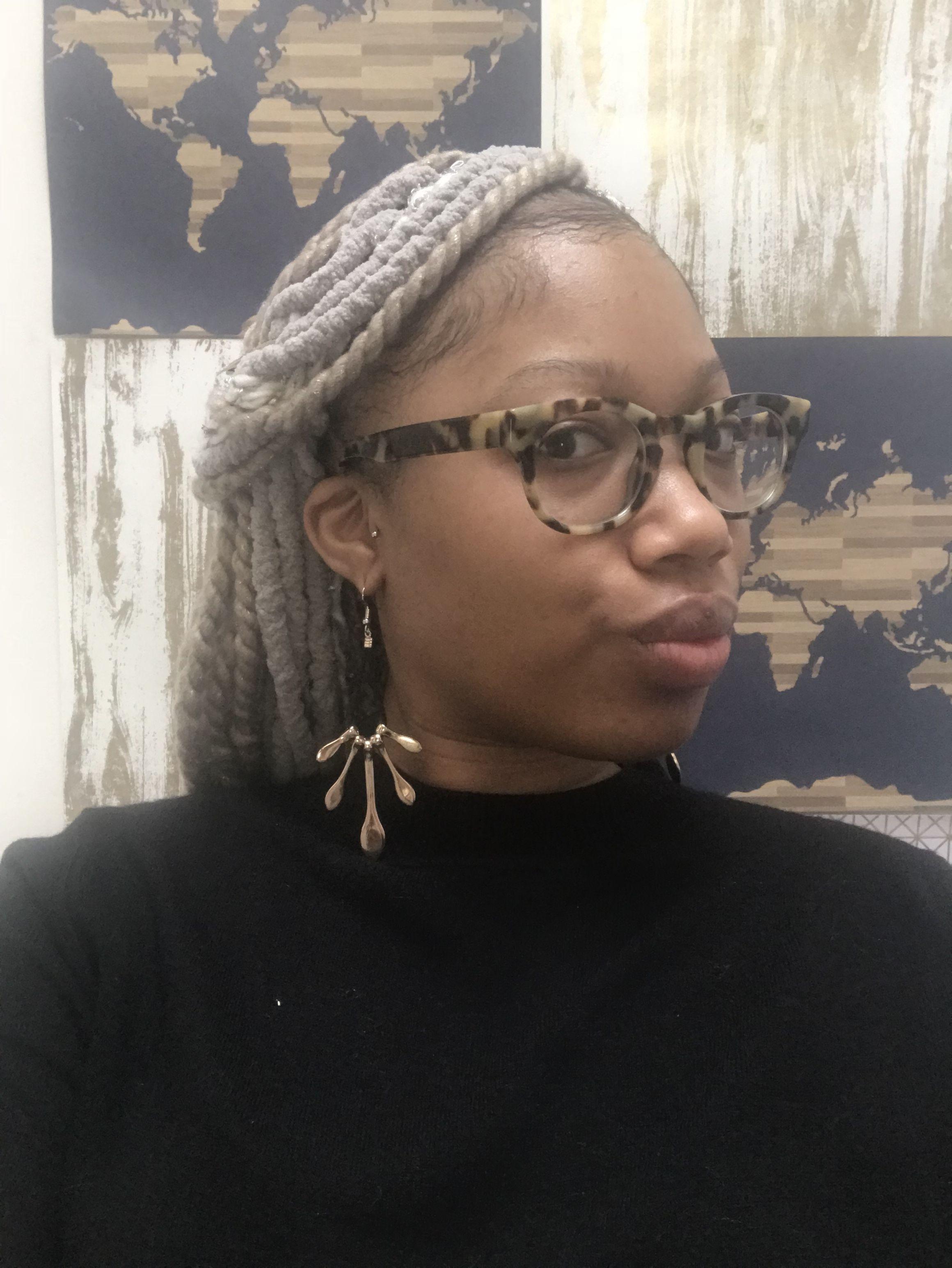 Karma braids yarn locs yarn twist loose ends crochet braids