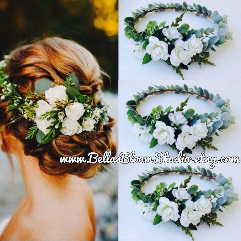 f549c3f7d5b White bridal headpieces Bridal Hair Vine