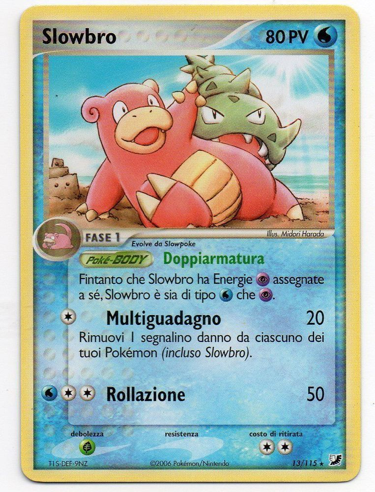 Pokemon slowbro 13115 ex unseen forces rara the real_deal