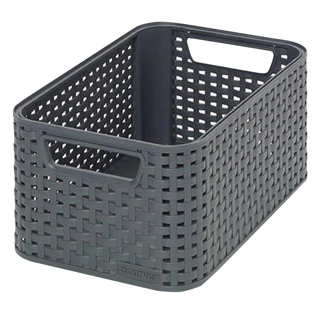 Superb Plastic Bath Basket Black Small Curver. Media StorageStorage BinsStorage ...