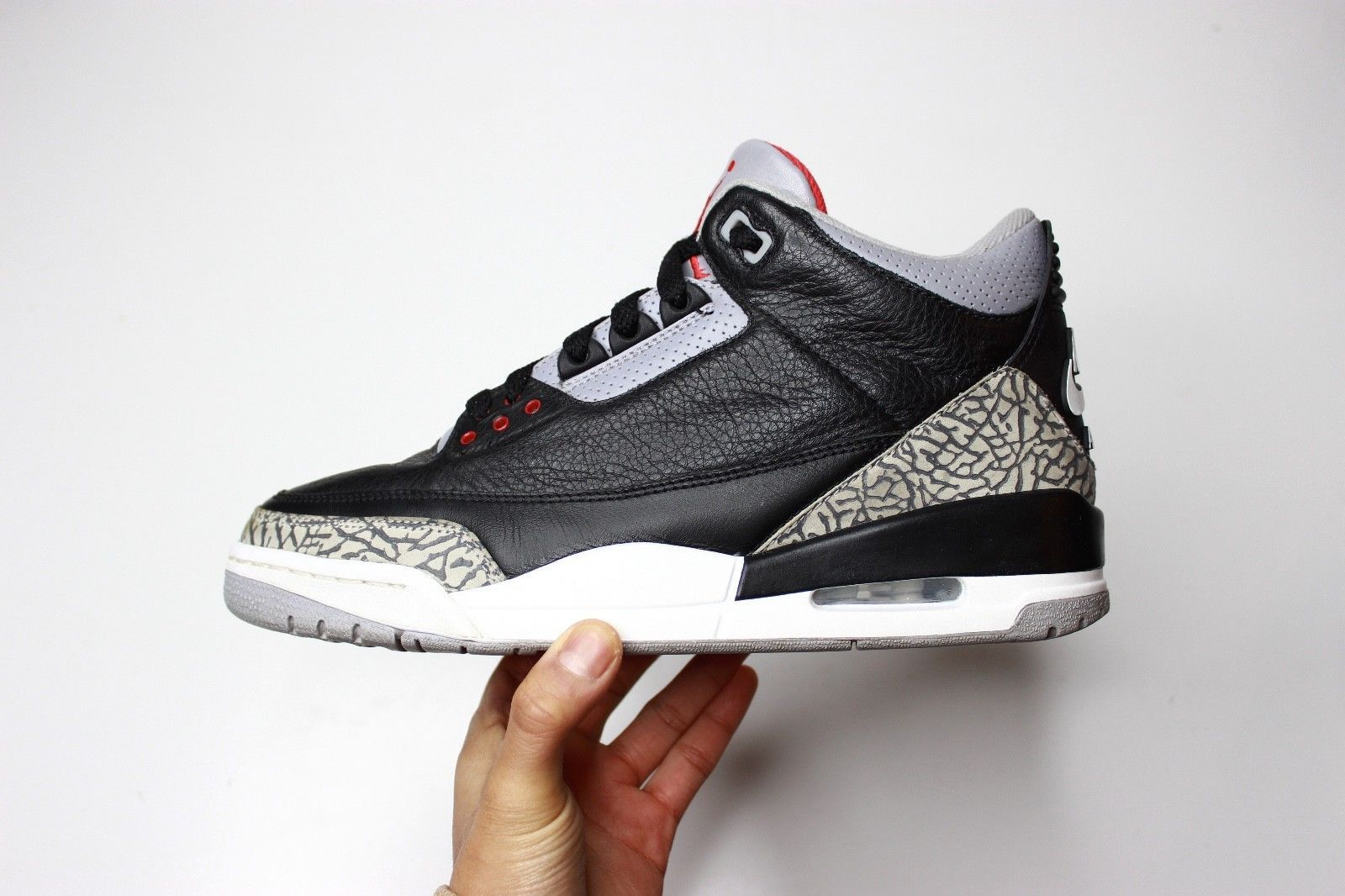 2001 Sample Nike Air Jordan 3 Black Cement sz 9 | III IV V VI Retro